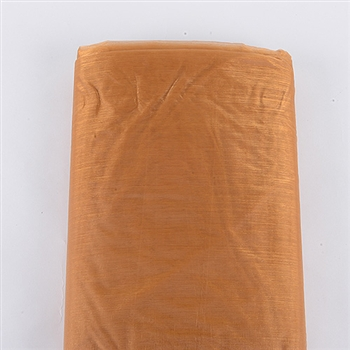 Pumpkin Gold Organza Fabric