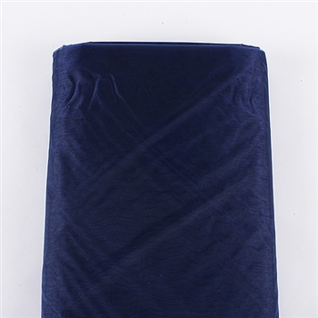 Navy Blue Organza Fabric