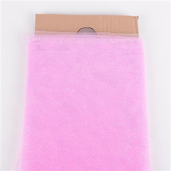 54 Inch Pink Glitter Tulle Bolt