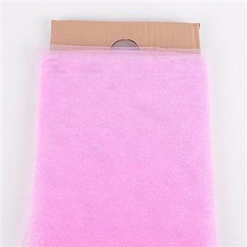 54 Inch Pink Glitter Tulle Bolt