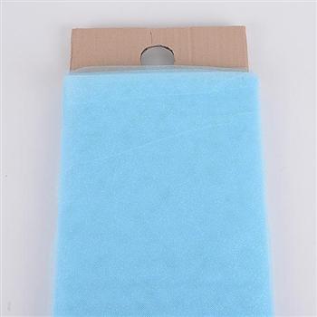 54 Inch Lt. Blue Glitter Tulle Bolt