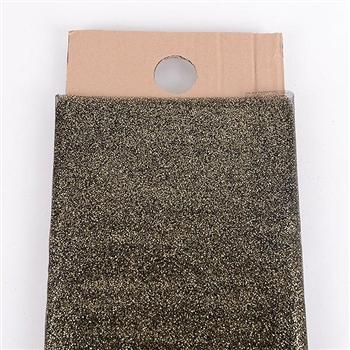 54 Inch Black Glitter Tulle Bolt