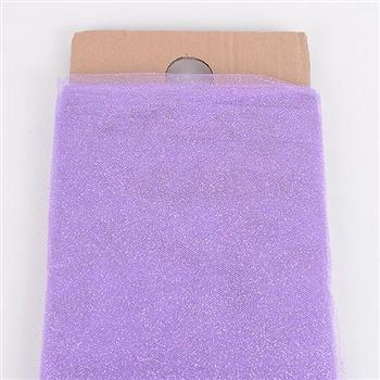54 Inch Lavender Glitter Tulle Bolt