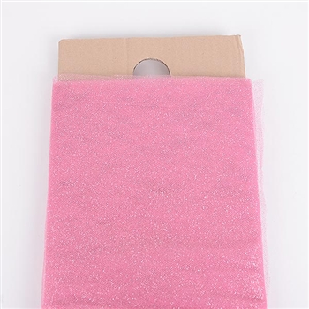 54 Inch Shocking Pink Glitter Tulle Bolt