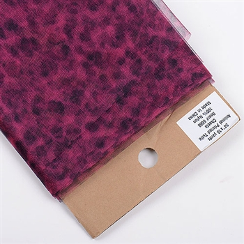 Fuchsia Cheetah Animal Print Tulle 54x10 Yards