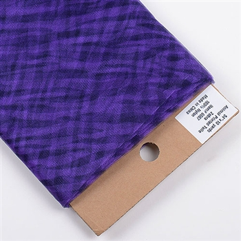 Purple Zebra Animal Print Tulle 54x10 Yards