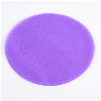 Purple Pre Cut 12 Inch Premium Tulle Circles 25 Pieces