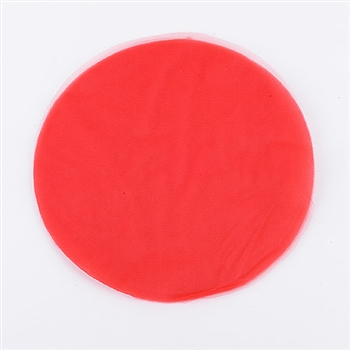 Red Pre Cut 12 Inch Premium Tulle Circles 25 Pieces