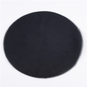 Black Pre Cut 12 Inch Premium Tulle Circles 25 Pieces