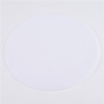White Pre Cut 9 Inch Premium Tulle Circles 25 Pieces