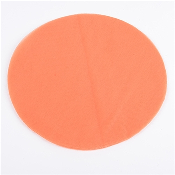 Orange Pre Cut 9 Inch Premium Tulle Circles 25 Pieces
