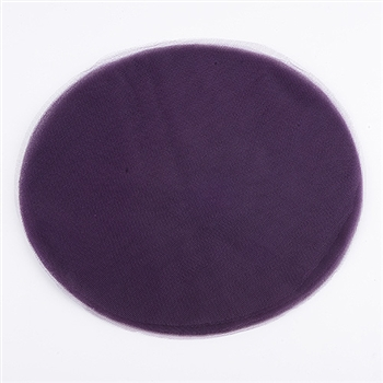 Plum Pre Cut 9 Inch Premium Tulle Circles 25 Pieces