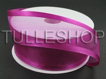 1-1/2 Inch Azalea Organza Ribbon Two Satin Edges