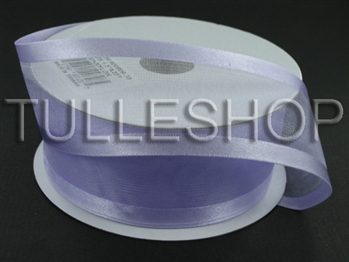 1-1/2 Inch Lavender Organza Ribbon Two Satin Edges