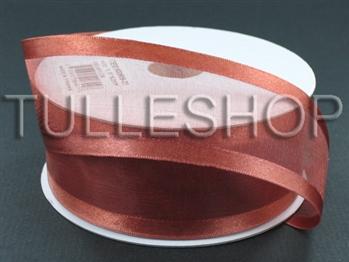 1-1/2 Inch Copper Organza Ribbon Two Satin Edges