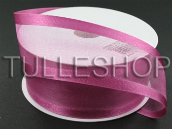 1-1/2 Inch Colonial Rose Organza Ribbon Two Satin Edges