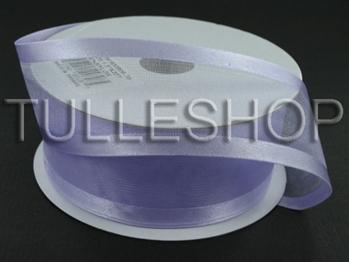 7/8 Inch Lavender Organza Ribbon Two Satin Edges