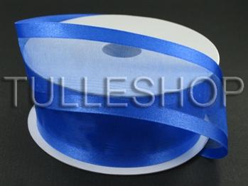 5/8 Inch Royal Blue Organza Ribbon Two Satin Edges