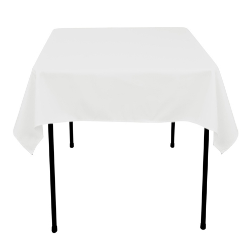 White 52 x 52 Inch Square Tablecloths