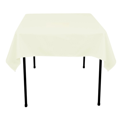 Ivory 52 x 52 Inch Square Tablecloths