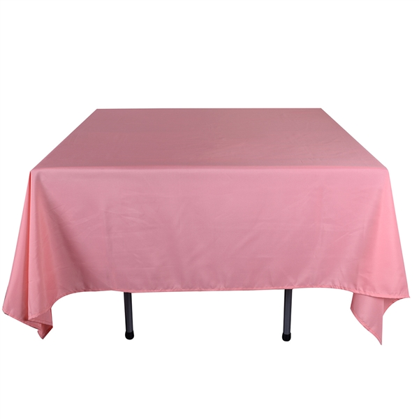 Coral 52 x 52 Inch Square Tablecloths