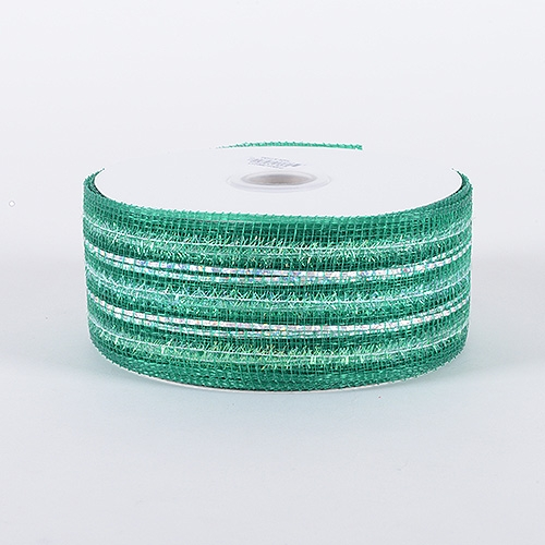 Emerald Laser Metallic Mesh Ribbon