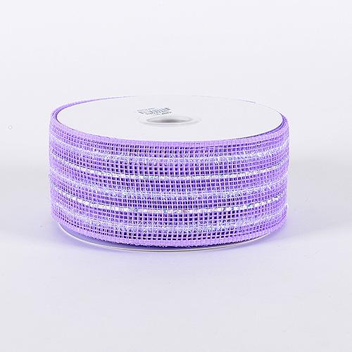 Lavender Laser Metallic Mesh Ribbon