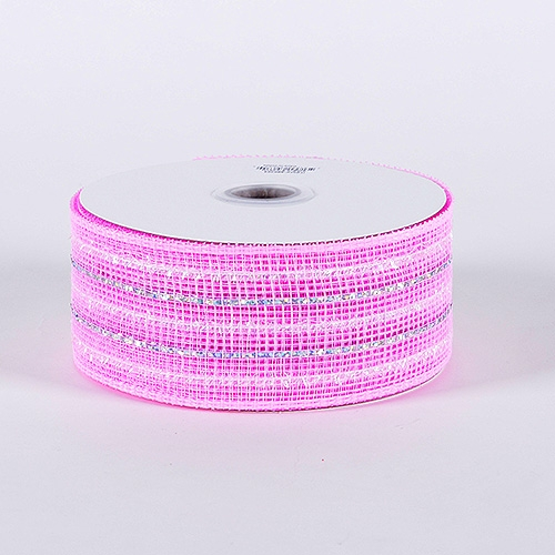 Light Pink Laser Metallic Mesh Ribbon