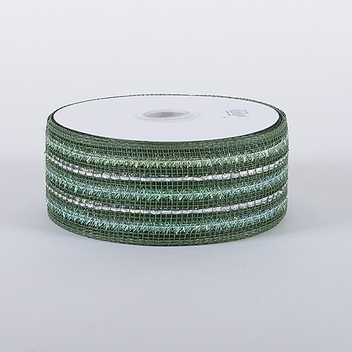 Old Willow Laser Metallic Mesh Ribbon