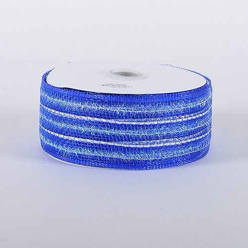 Royal Blue Laser Metallic Mesh Ribbon