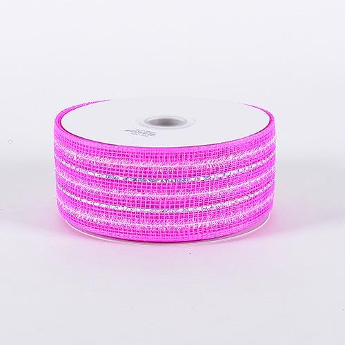 Fuchsia Laser Metallic Mesh Ribbon