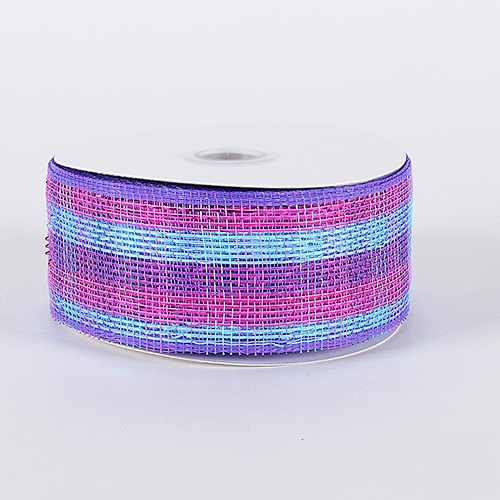 Purple Pink Laser Metallic Mesh Ribbon