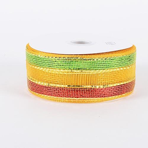 Light Gold Laser Metallic Mesh Ribbon