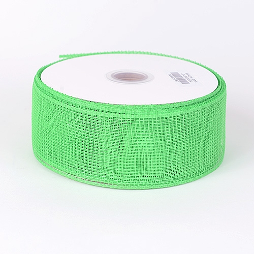 Green Floral Mesh Ribbon