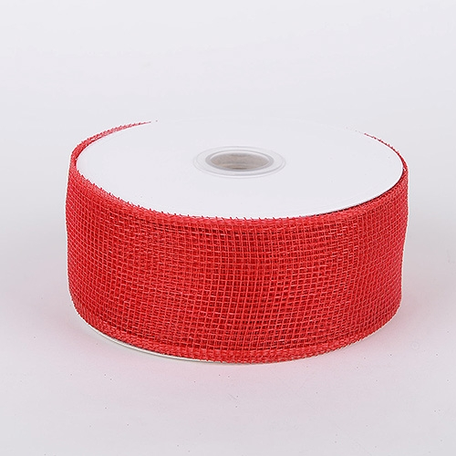 Red Floral Mesh Ribbon