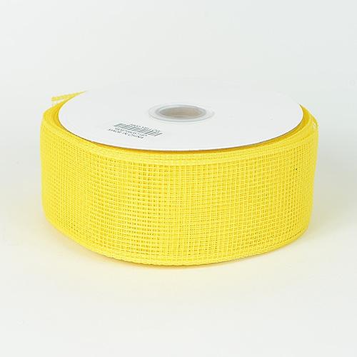 Yellow Floral Mesh Ribbon