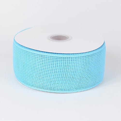 Light Blue Floral Mesh Ribbon