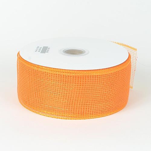 Orange Floral Mesh Ribbon