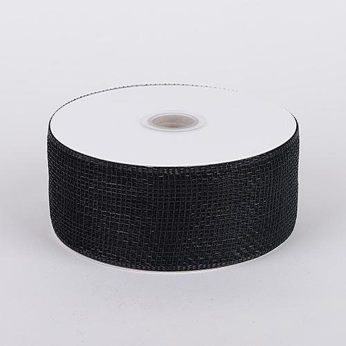 Black Floral Mesh Ribbon