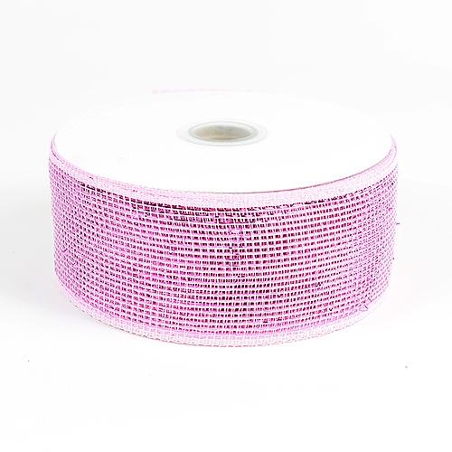 Pink Metallic Deco Mesh Ribbon