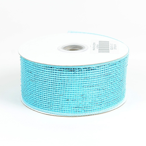 Blue Metallic Deco Mesh Ribbon