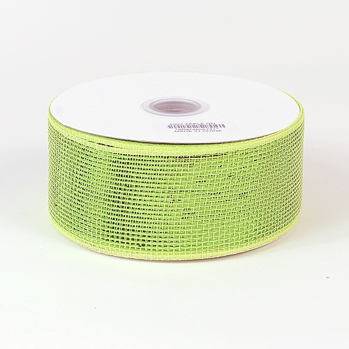 Apple Green Metallic Deco Mesh Ribbon