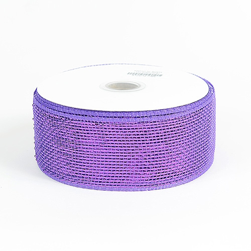 Purple Metallic Deco Mesh Ribbon