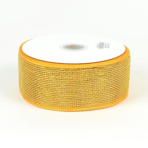 Gold Metallic Deco Mesh Ribbon