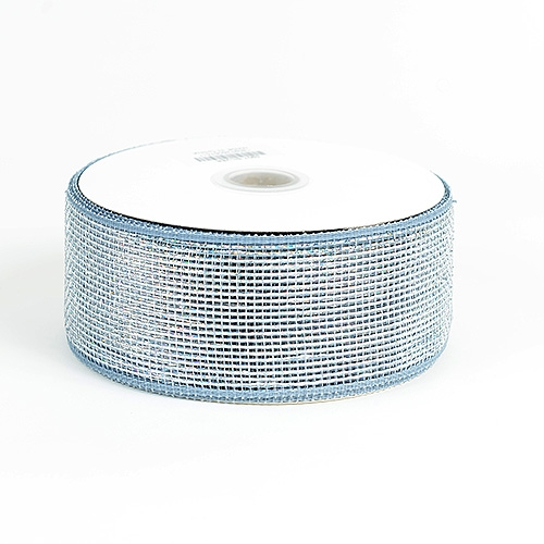 Silver Metallic Deco Mesh Ribbon