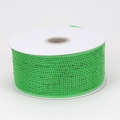 Green Metallic Deco Mesh Ribbon