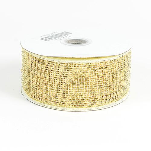Ivory Metallic Deco Mesh Ribbon