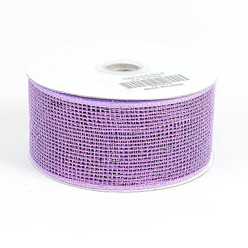 Lavender Metallic Deco Mesh Ribbon