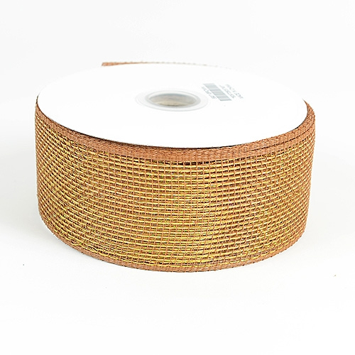 Brown Metallic Deco Mesh Ribbon