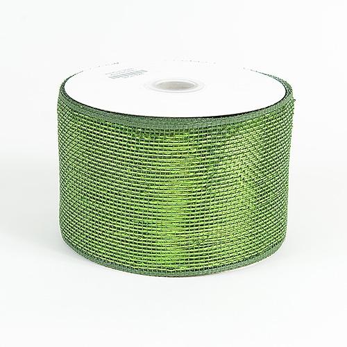 Moss Metallic Deco Mesh Ribbon